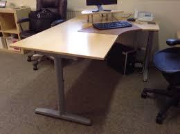 ikea bekant birch corner desk adjustable height with