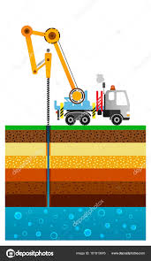 The Drilling Truck Drills A Well. Mining Industry. Layers Of The ... Drilling Contractors Soldotha Ak Smith Well Inc 169467_106309825592_39052793260154_o Simco Water Equipment Stock Photos Truck Mounted Rig In India Buy Used Capital New Hampshires Treatment Professionals Arcadia Barter Store Category Repairing Svce Filewell Drilling Truck Preparing To Set Up For Livestock Well Repairs Greater Minneapolis Area Bohn Faqs About Wells Partridge Cheap Diy Find Dak Service Pump