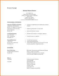 Pdf Resume Examples
