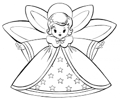 Classy Inspiration Angel Coloring Page Download Pages Free Christmas Retro Angels The Graphics Fairy