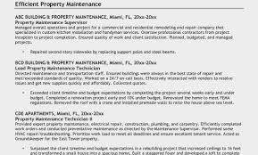 Facility Maintenance Resume Inspirational Building