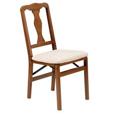 Amazon.com: Queen Anne Wood Folding Chair In Warm Fruitwood ... Wood Folding Chairs With Padded Seat White Wooden Are Very Comfortable And Premium 2 Thick Vinyl Chair By National Public Seating 3200 Series Padded Folding Chairs Vintage Timber Trestle Tables Natural With Ivory Resin Shaker Ladder Back Hardwood Chair Fruitwood Contoured Hercules Wedding Ceremony Buy Seatused Chairsseat Cushions Cosco 4pack Black Walmartcom