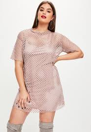 plus size pink fishnet t shirt missguided