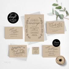 Rustic Wedding Invitation Template Formal Printable Vintage Cheap PDF Instant Download E008i
