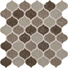 Home Depot Merola Lantern Ceramic Tile by Ms International Taza Blend 12 In X 12 In X 8 Mm Glass Mesh