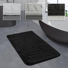 badezimmer teppich badvorleger kariertes muster in versch