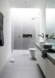 15 Shades Of Grey - Bathroom Ideas - TileHaven Modern Bathroom Small Space Lat Lobmc Decor For Bathrooms Ideas Modern Bathrooms Grey Design Choosing Mirror And Floor Grey Black White Subway Wall Tile 30 Luxury Homelovr Bathroom Ideas From Pale Greys To Dark 10 Ways Add Color Into Your Freshecom De Populairste Badkamers Van Pinterest Badrum Smallbathroom Make Feel Bigger Fascating Storage Cabinets 22 Relaxing Bath Spaces With Wooden My Dream