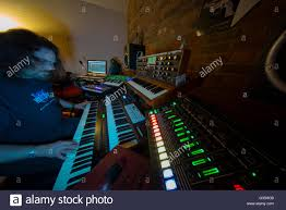Home Music Studio With Multiple Electronic Keyboards