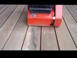 deck sander youtube