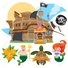 100 Design A Pirate Ship Illustration With The Image Of A Bar In The Form Of A Pirate