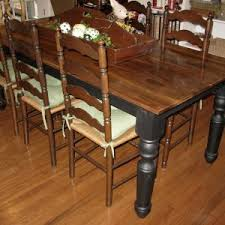 Solemn Rustic Dining Farmhouse Table With Antique Brown Armless Throughout Chair Plans