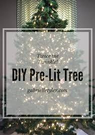 Pre Lighted Christmas Trees by Diy Pre Lit Christmas Tree Tutorial Gabrielle Tyler