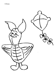 Piglets Kite Coloring Page