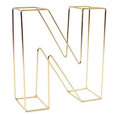 Soft Gold Wire Letter N 15Cm Hobbycraft