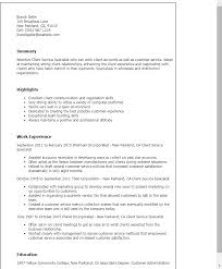 Client Service Specialist Resume Template Best Design Tips