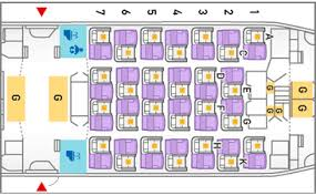 selection siege air transat airline seat map guide skytrax