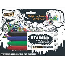 Decorating Fabric With Sharpies by Amazon Com Stained By Sharpie Brush Tip Fabric Markers 4