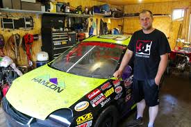 Andrew Morgan Stands Next To The Dodge Neon He Started Out With Five Years Ago