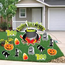 Metal Halloween Yard Stakes by Halloween Outdoor Yard Displays Halloween Wikii