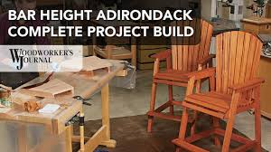 Bar Height Adirondack Chair Project | Complete Build Video - YouTube 35 Free Diy Adirondack Chair Plans Ideas For Relaxing In Your Backyard Amazoncom 3 In 1 High Rocking Horse And Desk All One Highchair Lakirajme Home Hokus Pokus 3in1 Wood Outdoor Rustic Porch Rocker Heavy Jewelry Box The Whisper Arihome Usa Amish Made 525 Cedar Bench Walmartcom 15 Awesome Patio Fniture Family Hdyman Hutrites Wikipedia How To Build A Swing Bed Plank And Pillow Odworking Plans Baby High Chair Youtube