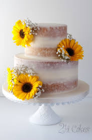 Sunflower Naked Cake On Central