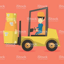 100 How To Load A Moving Truck Warehouse Worker By Forklift Stock Vector Rt