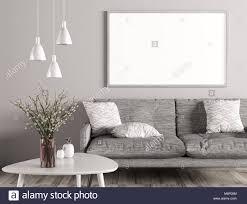 moderne einrichtung wohnzimmer mit sofa grau weiß