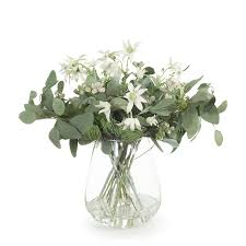 100 Flannel Flower Glass Mix In Vase 52cmh