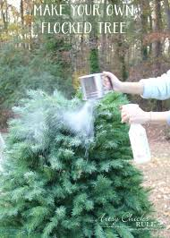Flocking Powder For Christmas Trees by Diy Flocked Tree Thrifty Holiday Decor Artsy Rule