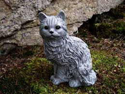 cat garden statue cat statue concrete cat figure cement garden decor statues of