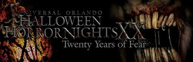 Halloween Horror Nights Frequent Fear Pass by Hhn Xx Twenty Years Of Fear Horror Night Nightmares