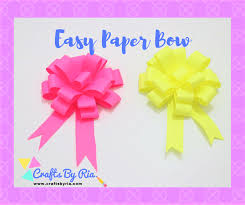 How To Make An Easy Paper Bow Steps