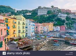 100 Houses In Sorrento The Old Fishing Village With The Colorful Houses And A Small