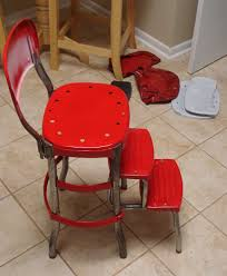 Cosco Retro Chair With Step Stool Black by Cosco Step Ladder Chair Restoration Visual Engineering