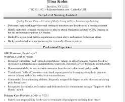 How To Write A Nurse Resume Entry Level Nursing Sample