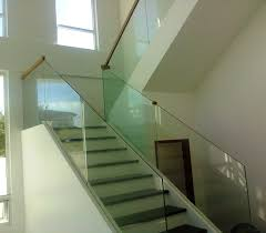 Old Glass Stair Railing : Types Glass Stair Railing ... Modern Glass Stair Railing Design Interior Waplag Still In Process Frameless Staircase Balustrade Design To Lishaft Stainless Amazing Staircase Without Handrails Also White Tufted 33 Best Stairs Images On Pinterest And Unique Banister Railings Home By Larizza Popular Single Steel Handrail With Smart Best 25 Stair Railing Ideas Stairs 47 Ideas Staircases Wood Railings Rustic Acero Designed Villa In Madrid I N T E R O S P A C