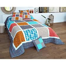 canape indien boutis ou jeté de canapé patchwork motifs indiens becquet unique