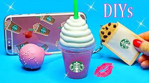 5 DIY Starbucks Projects Miniature NotebookPenPhone CaseLip Balm DIYs School Supplies