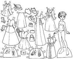 Marisole 1940 Doll Dress Colouring Page
