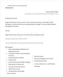 Sample Resume Entry Level Pharmacy Technician Ixiplay Free Samples