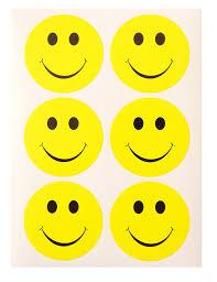 smiley bureau mr label smiley jaune mignon de visage autocollants adhésif