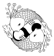 Koi Fish Colouring Pages