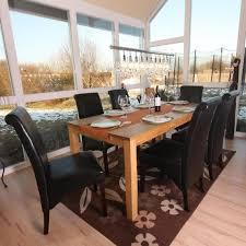 6x esszimmerstuhl küchenstuhl stuhl m37 leder schwarz dunkle füße