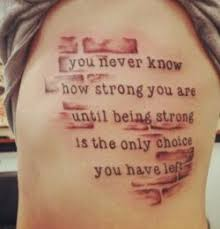 Strength Tattoo Surrounded By Bricks