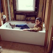 Who Makes Mirabelle Bathtubs by Design Manifest On The Jobsite Love The Clean Lines On This Tub