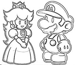 Mario Coloring Pages Games Sheet Super Bros Pic