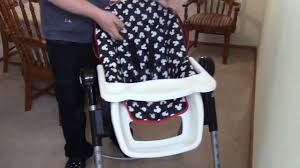 Cosco Flat Fold High Chair by Disney Baby Simple Fold Plus High Chair Youtube