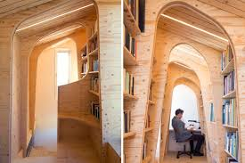 100 11 Wood Loft Gallery Of Library Arboreal Architecture