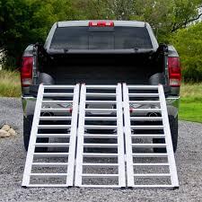 Full Width Tri-Fold Aluminum ATV Loading Ramp 77