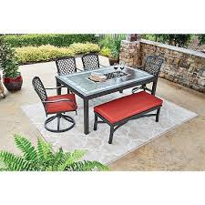 Sams Club Patio Set With Fire Pit by St Petersburg 6 Piece Dining Set With Bench Sam U0027s Club